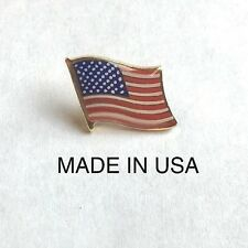 AMERICAN FLAG LAPEL PIN SMALL *MADE IN USA* Hat Tie Tack Pinback patriotic