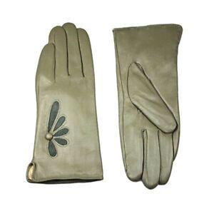 Women`s Velvet Lining Genuine Leather Warm Gloves Autumn Winter Fashion Mittens