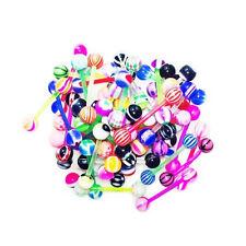 50x Mixed Ball Tongue Ring Navel Nipple Barbell Bar Body Jewelry Piercing