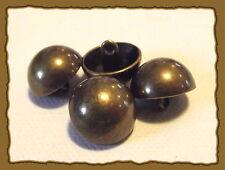 5 BOUTONS métal couleur Bronze NEUFS * 15 mm *  Pied Queue 1,5 cm lot button