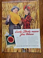 1942 Lucky Strike Ad James R Callis Jr Tobacco Warehouseman Willow Springs NC
