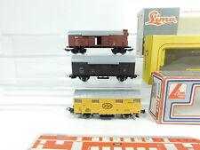 bf395-0,5 # 3x Lima H0 / DC Vagón de mercancía: 303164dB + 3105 SNCF +3102FS
