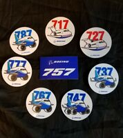 Boeing 717 727 737 747 757 767 777 787  Sticker Tool Box Decal Pack A&P Pilot