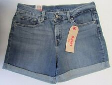 NWT Levi's Jeans Short Shorts Relaxed Fit Cuffed Hem Sizes 29 30