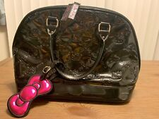 HELLO KITTY SANRIO Loungefly Large Black Embossed Handbag Purse