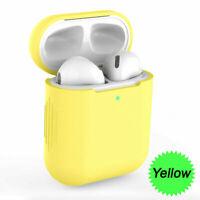 Custodia Cover Auricolari Silicone Tpu per Apple Airpods Generazione 1/2 Giallo