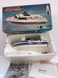"""Nikko vintage radio controlled Cruiser DOLPHIN""""Speed Cruiser 1984 Boat Speedy"""
