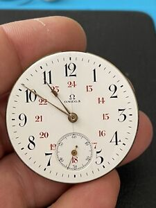 Vintage Omega pocket watch movemenet with dial, working