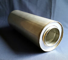 """48mm Bore 1/"""" 7//8/"""" 6/"""" x 20/"""" Weld On Stainless Steel Silencer Exhaust Box Body"""