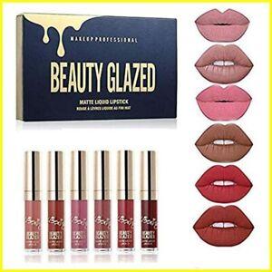 Beauty Glazed 6 piece matte lipstick set, New