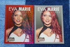 EVA MARIE LOT OF 2 2015 AMERICANA RED FOIL & BASE #54 ENTERTAINER