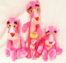 Lot of Four Rare 1964 Pink Panther Plush Toys by Mighty Star