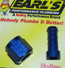 "HARLEY STRAIGHT 9/16""-18 FEMALE HOSE END FITTING BLUE"