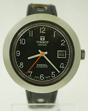 Rare Vintage Tissot Sideral Fiberglass Automatic Date Watch UFO Hidden Lug