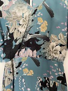Biba Floral Midi Dress - Size 14