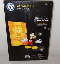 Unopened Disney HP Advanced 4 X 6 Glossy Photo Paper 100 Count  Q2238A  2010