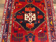 """4'9""""x12'6& #034; Authentic Handmade wool Signed Oriental Malayer Gallery rug runner"""