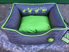 New Small Walker Memory Foam Sofa Dog Bed Puppies Cat Grey LIme