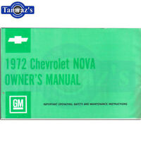 1972 72 Nova Owners Manual Bound New