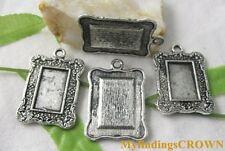 10pcs Tibetan Silver square picture frame charms FC1813