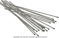 "20 Piece Antique Silver Plated 2"" Flat Top Head Pins 24 Gauge Wire Beading"