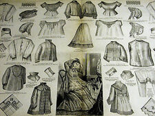 Victorian Fashion Ladies & Mens NIGHT CLOTHES CORSET COVER DRAWERS 1875 Lg Print