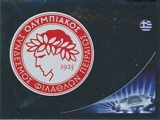 N°120 BADGE SCUDETTO # GREECE OLYMPIACOS CHAMPIONS LEAGUE 2013 STICKER PANINI