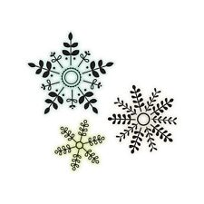 """Imaginisce """"Christmas Clear Acrylic Stamps"""" Snowflakes"""" All 3 in One Stamp"""