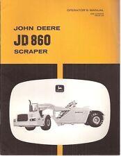 John Deere 860 Self-Propelled Motor Scraper Operator's Manual