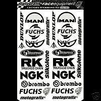 KAWASAKI,BELLY PAN Sponsors Graphics / Stickers / Decals in BLACK VINYL