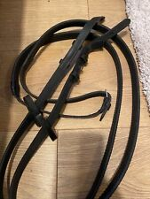 Superb Quality Black Leather Full Size Rubber Reins
