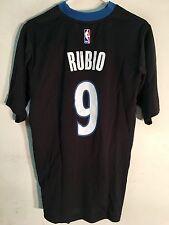 Adidas NBA Jersey Minnesota Timberwolves Rubio Black SS sz S
