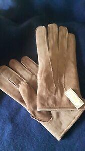 VINTAGE Gloves Real SUEDE pigskin lined- MENS large