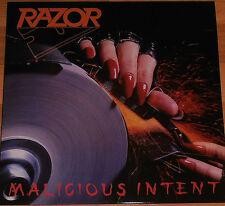 Razor – Malicious Intent  LP / Vinyl Re / New (2015) Thrash Metal