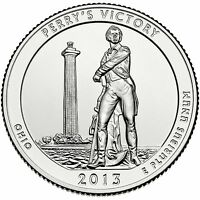 2013 D Perry's Victory Ohio America the Beautiful BU Quarter from US Mint Roll