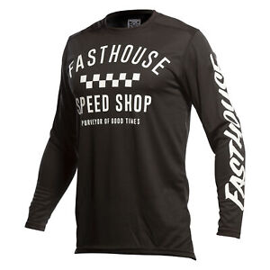 Fasthouse Carbon Mens Jersey Moto - Black All Sizes