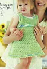 Sweet And Swingy Dress Baby & Toddler 4 Sizes Crochet Pattern Instructions