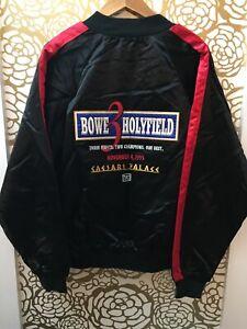 1995 HOLYFIELD vs BOWE 3 Satin Jacket NEW W/ TAGS Caesars Las Vegas VINTAGE RARE