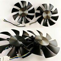 2pcs Control Dual Fan Graphics Card Replacement for ZOTAC GTX960 GTX1060 GTX1070