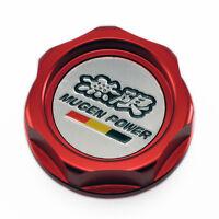 Mugen Aluminum Car Oil Filler Cap Racing Engine Tank Cover New For Honda RED