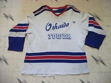 VINTAGE DURENE DUREEN OSHAWA TOWER MINOR LEAGUE HOCKEY JERSEY SIZE 44 LOT O WEAR