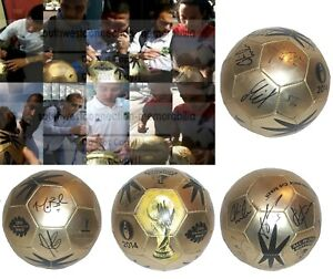2014 USMNT USA United States Autograph Signed World Cup Gold Soccer Ball Proof