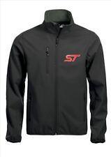 St (Ford) Logotipo Bordado Delantero Calidad Abrigo Chaqueta Softshell Negro Talla 3XL
