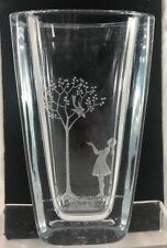 Vintage Signed Strombergshyttan Crystal Vase