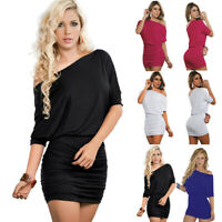 Womens Ruched Bodycon Short Mini Dress for Party/Cocktail Dress Summer Sundress