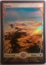 Plaine Full Art Zendikar VF PREMIUM / FOIL French Textless Plains  Magic mtg 232