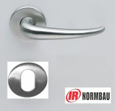 Normbau Aveugle Blanc écusson Cover nickel satiné//satin Finition Chrome-Neuf