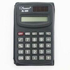 Petite calculatrice de poche 8 chiffres affichage LCD pile et solaire