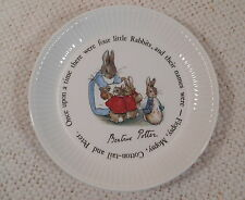 "Beatrix Potter Design Wedgwood Peter Rabbit Ribbed 6"" Signed Compotier Plate"