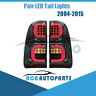Pair Smoke Lens LED Tail Light Rear Lamp Fit ForToyota Hilux KUN26R SR5 Workmate